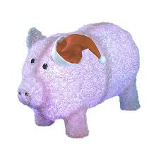 christmas pig shop christmas central lighted pig outdoor christmas decoration