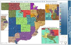 Wisconsin Election Map by County Supervisory Districts Sauk County Wisconsin Official Website