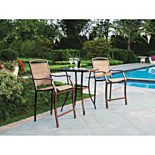 Patio Furniture Bar Height Set - amazon com 3 pc high top bistro table chairs set slingback