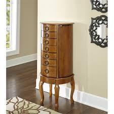 jewelry armoire oak finish powell jewelry armoire in burnished oak 604 318
