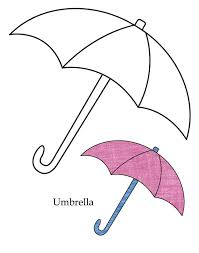 a kids drawing of beach umbrella coloring page a kids drawing of