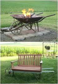 Firepit On Wheels Pit On Wheels Rustic Wheelbarrow Pit Portable Pits