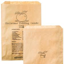 christmas paper bags 10 christmas pudding brown paper gift bags pipii