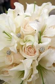 Casablanca Flower - bouquet flower white roses with casablanca lilies 2040028