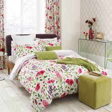 modern floral bedding sanderson spring flowers bed linen at