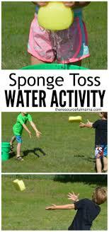 sponge toss water activity water activities easy and tossed