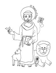 saint coloring pages