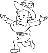 leprechaun beer coloring free printable coloring pages