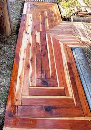 how to build an awesome sidewalk with recycled lumber for only
