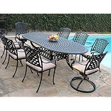 amazon com cast aluminum outdoor patio furniture 9 piece