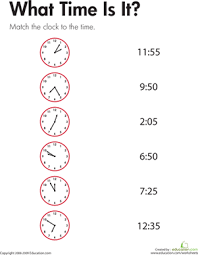 telling time what time is it worksheet education com
