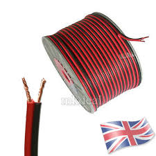 20 meters 2 core red and black hifi cable car auto boat audio loud