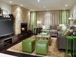 interior charming basement interior decoration using light green