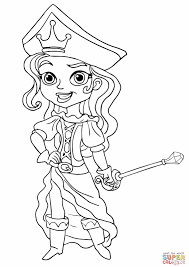 jake and the neverland pirates pirate princess coloring page jpg