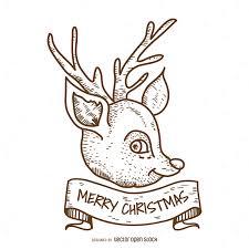 christmas deer christmas deer design vector