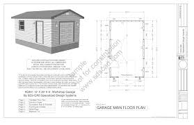 3 Car Detached Garage Plans by Bedroom Fetching Two Bay Detached Garage Plans Tall Doors