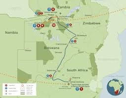 Southern Africa Map by Passage Through Africa Discover Africa Safaris