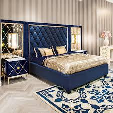 Ottoman Storage Beds High End Modern Blue Velvet Ottoman Storage Bed Juliettes Interiors