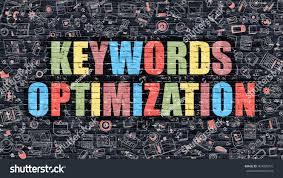 keywords optimization multicolor concept on dark brick wall