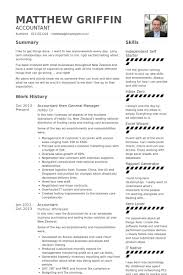 Sample Resume For Accountant by General Manager Resume Samples Visualcv Resume Samples Database