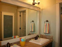 framed bathroom mirror kitchen pictures