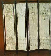 vintage room divider vintage macrame 1970 u0027s pattern to make a super decorative folding