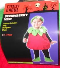 infants toddlers halloween costume strawberry girls 12 24 months