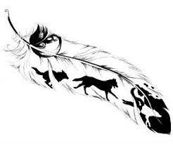wolf feather i would alter this but i the idea