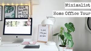 Minimalist Modern Home Office Decor Tour Minimalist Modern Monochrome House Tour