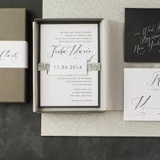 wedding invitations black and white calligraphy wedding invitations glitter boxed wedding