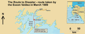 Valdez Alaska Map by Exxon Valdez By Megan H