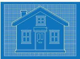 house blueprints free simple house blueprints royalty free stock photo image 19708695