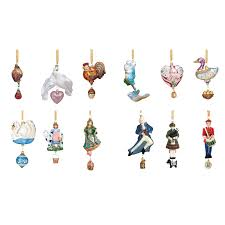 christmas ornament sets 12 days of christmas collection glass ornaments by reed and barton