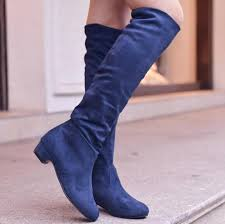 womens boots navy womens boots 2015 fashion autumn high heeled knee boots