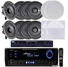 In Ceiling Center Channel Speaker by Pyle Kthsp390sv 4 Room In Wall In Ceiling Speaker System 4 X