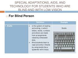 Assistive Technology For Blindness And Low Vision Students Who Are Blind Or Have Low Vision