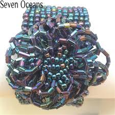 fashion elastic bracelet images 54 seven oceans beaded bracelet bohemian style blue elastic jpg