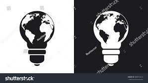 Black World Map by Vector Light Bulb Icon World Map Stock Vector 380713414 Shutterstock