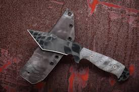 Obsidian Kitchen Knives Dawson Knives Custom Wraith Fixed 5 25