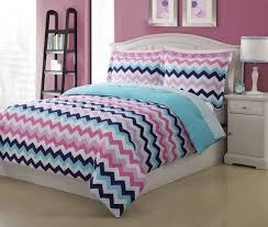 Colorful Queen Comforter Sets Microfiber Kids Chevron Bedding Comforter Set
