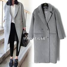 light grey wool coat light grey wool coats autumn winter 2018 women peacoats grey twill