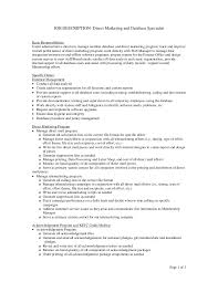 marketing job descriptions job description database job