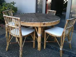 Rattan Kitchen Table by Vintage Rattan Dining Table Chairs And Sideboard 100 Sf Bay