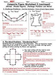 figure mania area and perimeter of composite 2 d shapes
