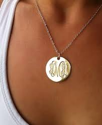 gold plated monogram necklace best 25 gold monogram necklace ideas on monogram