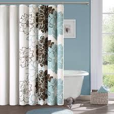 red barrel studio broadwell cotton shower curtain u0026 reviews wayfair