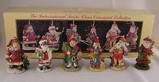 the international santa claus collection lot of 6 figurine