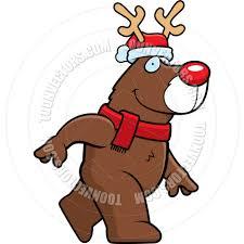 cartoon christmas reindeer by cory thoman toon vectors eps 4757