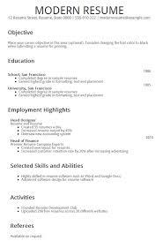 modern resume builder modern resume template resume cv 25