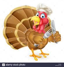 Thanksgiving Bird Thanksgiving Or Turkey Bird In A Chef Hat Holding